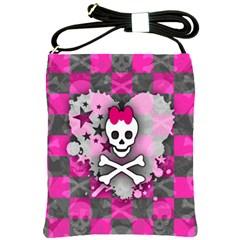 Princess Skull Heart Shoulder Sling Bag