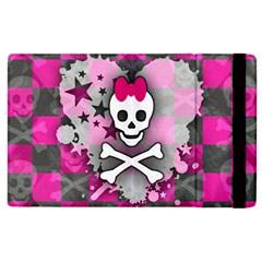 Princess Skull Heart Apple Ipad 2 Flip Case