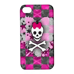 Princess Skull Heart Apple Iphone 4/4s Hardshell Case With Stand