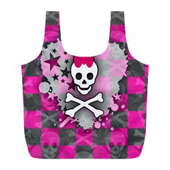 Princess Skull Heart Reusable Bag (l)