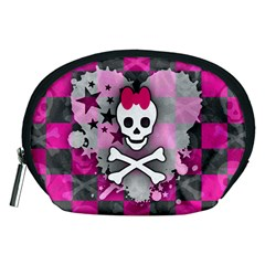 Princess Skull Heart Accessory Pouch (Medium)
