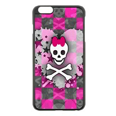 Princess Skull Heart Apple iPhone 6 Plus Black Enamel Case