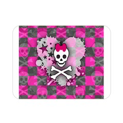 Princess Skull Heart Double Sided Flano Blanket (Mini)