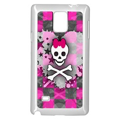 Princess Skull Heart Samsung Galaxy Note 4 Case (white)