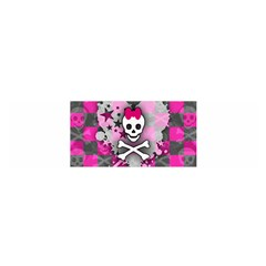 Princess Skull Heart Satin Scarf (Oblong)