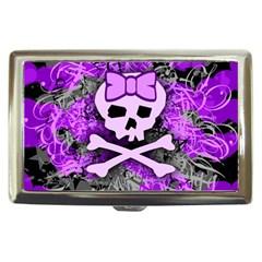 Purple Girly Skull Cigarette Money Case