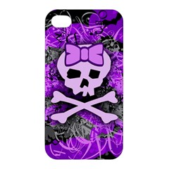 Purple Girly Skull Apple Iphone 4/4s Premium Hardshell Case