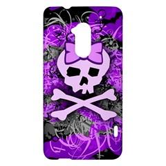 Purple Girly Skull HTC One Max (T6) Hardshell Case