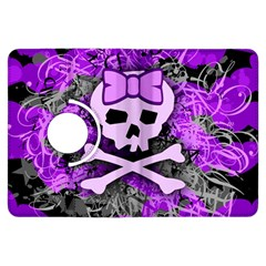Purple Girly Skull Kindle Fire HDX Flip 360 Case