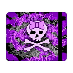 Purple Girly Skull Samsung Galaxy Tab Pro 8 4  Flip Case