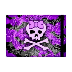 Purple Girly Skull Apple Ipad Mini 2 Flip Case