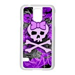 Purple Girly Skull Samsung Galaxy S5 Case (White) Front