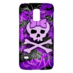 Purple Girly Skull Samsung Galaxy S5 Mini Hardshell Case
