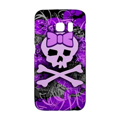Purple Girly Skull Samsung Galaxy S6 Edge Hardshell Case