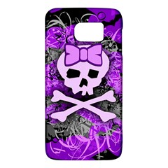 Purple Girly Skull Samsung Galaxy S6 Hardshell Case