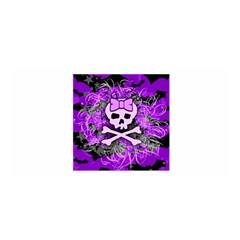 Purple Girly Skull Satin Wrap