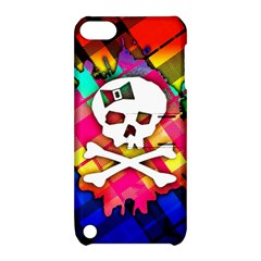 Rainbow Plaid Skull Apple Ipod Touch 5 Hardshell Case With Stand