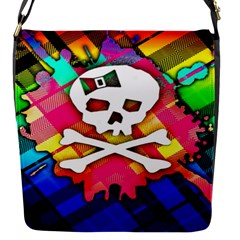 Rainbow Plaid Skull Removable Flap Cover (s)