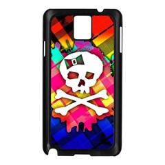 Rainbow Plaid Skull Samsung Galaxy Note 3 N9005 Case (black)
