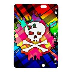 Rainbow Plaid Skull Kindle Fire Hdx 8 9  Hardshell Case
