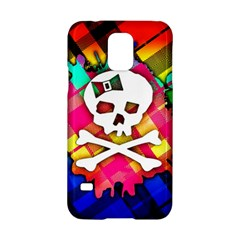 Rainbow Plaid Skull Samsung Galaxy S5 Hardshell Case