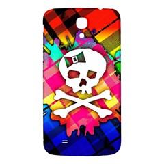 Rainbow Plaid Skull Samsung Galaxy Mega I9200 Hardshell Back Case