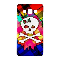 Rainbow Plaid Skull Samsung Galaxy A5 Hardshell Case