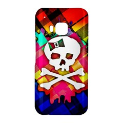 Rainbow Plaid Skull HTC One M9 Hardshell Case