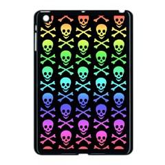 Rainbow Skull And Crossbones Pattern Apple Ipad Mini Case (black)
