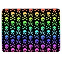 Rainbow Skull And Crossbones Pattern Samsung Galaxy Tab 7  P1000 Flip Case