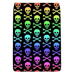Rainbow Skull And Crossbones Pattern Removable Flap Cover (l)