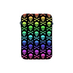 Rainbow Skull And Crossbones Pattern Apple Ipad Mini Protective Sleeve
