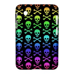 Rainbow Skull And Crossbones Pattern Samsung Galaxy Tab 2 (7 ) P3100 Hardshell Case