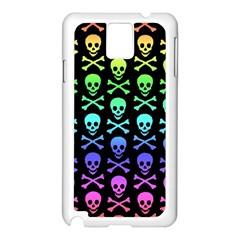 Rainbow Skull And Crossbones Pattern Samsung Galaxy Note 3 N9005 Case (white)