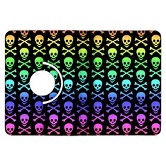Rainbow Skull and Crossbones Pattern Kindle Fire HDX Flip 360 Case
