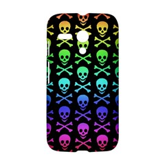 Rainbow Skull and Crossbones Pattern Motorola Moto G Hardshell Case