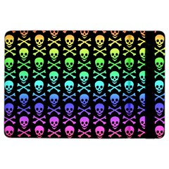 Rainbow Skull And Crossbones Pattern Apple Ipad Air 2 Flip Case