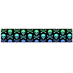 Rainbow Skull and Crossbones Pattern Flano Scarf (Large)