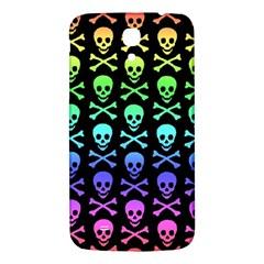 Rainbow Skull and Crossbones Pattern Samsung Galaxy Mega I9200 Hardshell Back Case