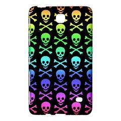 Rainbow Skull and Crossbones Pattern Samsung Galaxy Tab 4 (7 ) Hardshell Case
