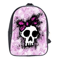 Sketched Skull Princess School Bag (large)