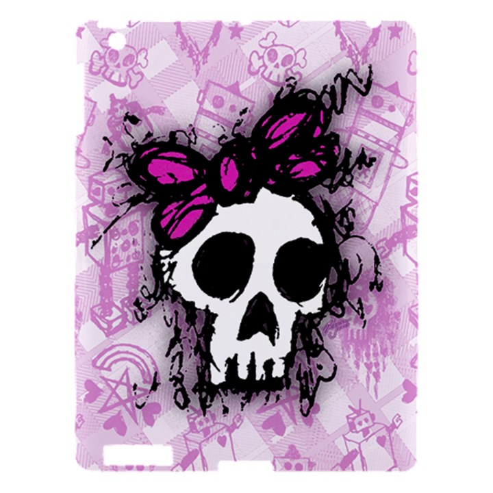 Sketched Skull Princess Apple iPad 3/4 Hardshell Case