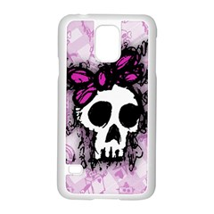 Sketched Skull Princess Samsung Galaxy S5 Case (White)