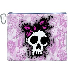 Sketched Skull Princess Canvas Cosmetic Bag (XXXL)