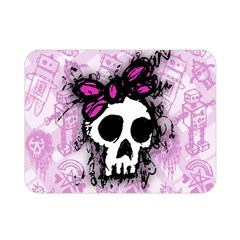 Sketched Skull Princess Double Sided Flano Blanket (Mini)