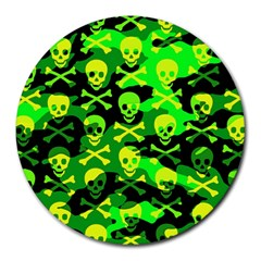 Skull Camouflage 8  Mouse Pad (round)
