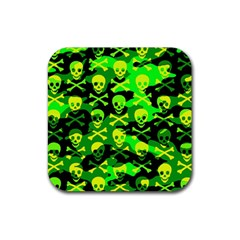 Skull Camouflage Drink Coaster (square)