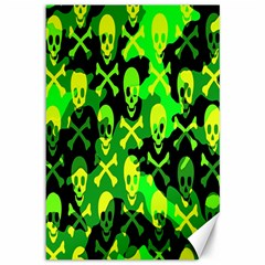 Skull Camouflage Canvas 12  X 18  (unframed)