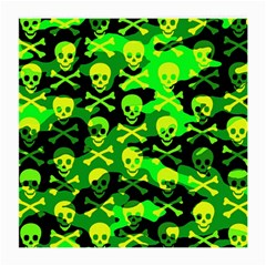 Skull Camouflage Glasses Cloth (medium, Two Sided)