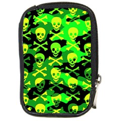 Skull Camouflage Compact Camera Leather Case